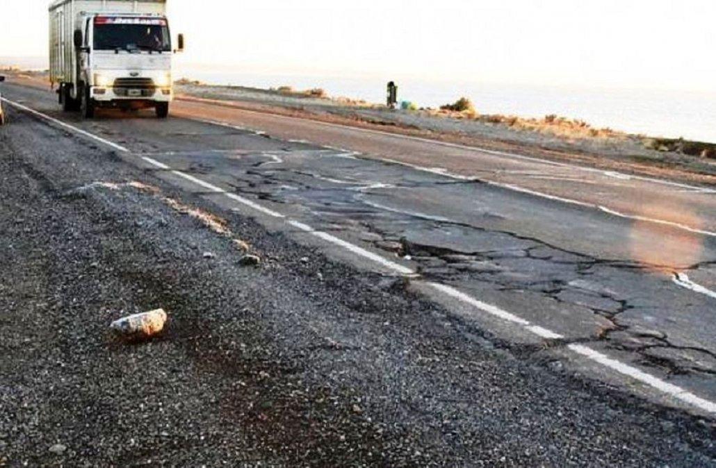 Comenzó la reparación de la Ruta 3 entre Caleta Olivia y Comodoro Rivadavia