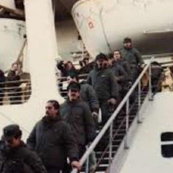 El regreso al continente luego de la guerra de Malvinas (Bajamos en Puerto Madryn)