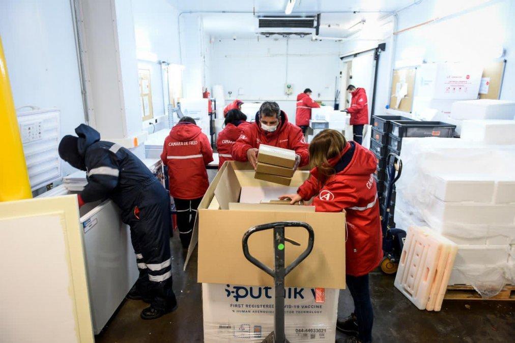 Covid: Llegan a Chubut otras 4200 dosis de la vacuna Sputnik V