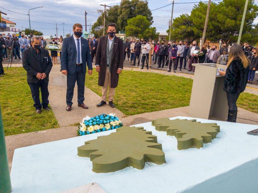 Homenaje a los soldados de Malvinas en Rawson.