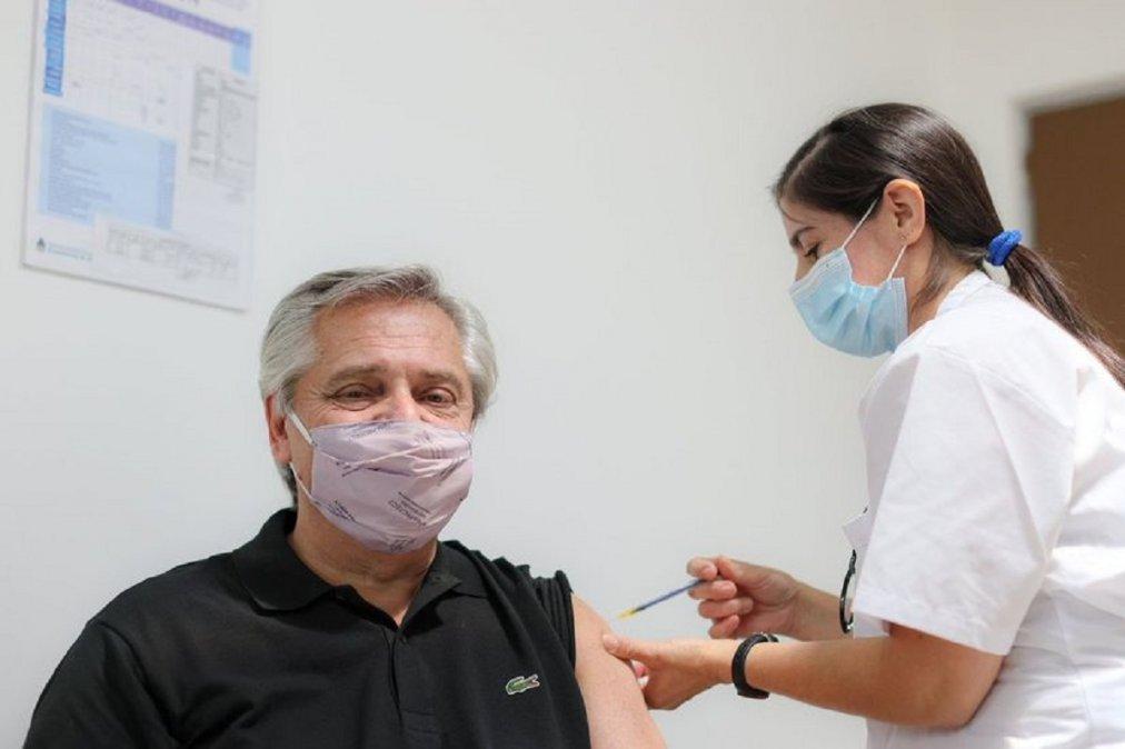 Alberto Fernández recibió la primera dosis de la vacuna Sputnik V el pasado 21 de enero.