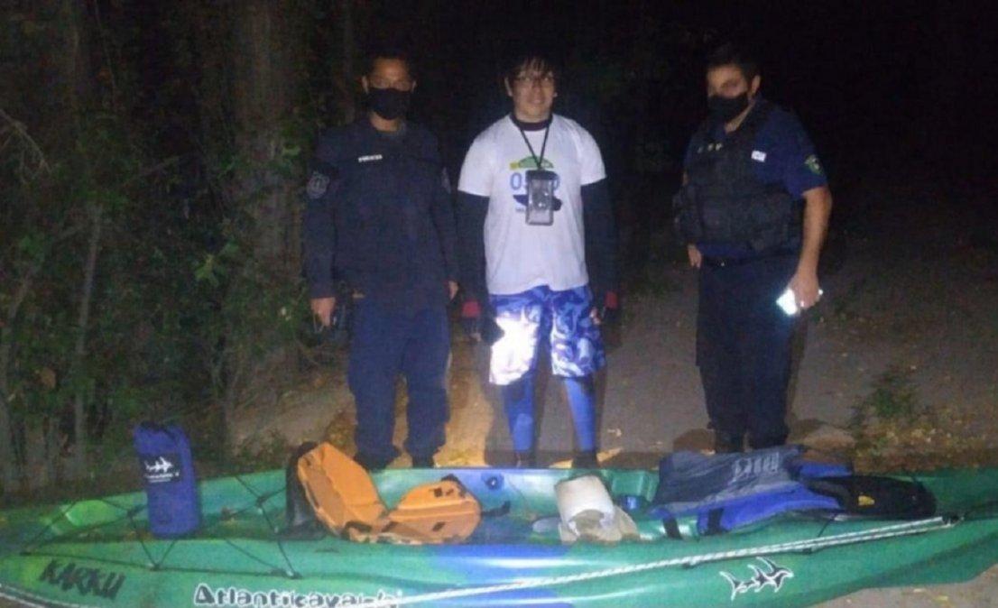 Kayakista estuvo perdido 10 horas en el Río Chubut