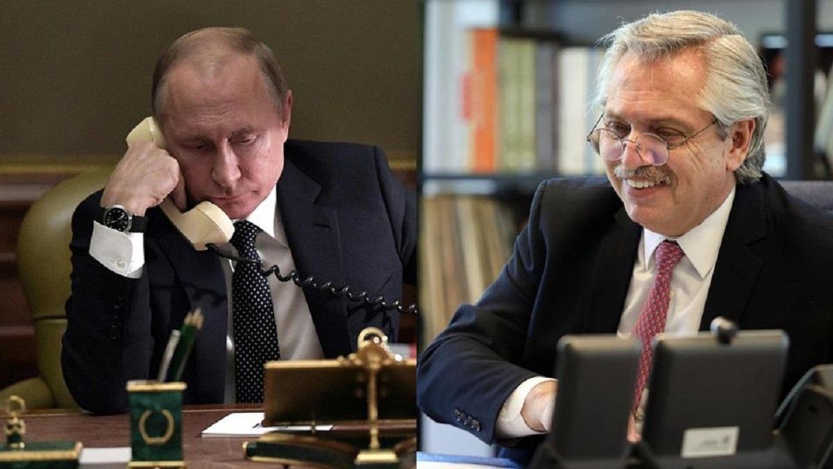 Putin lo llamó telefónicamente a Fernández para conocer su estado de salud y ponerse a disposición.