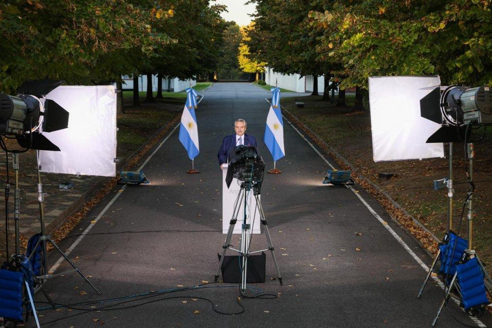 Foto oficial del anuncio presidencial