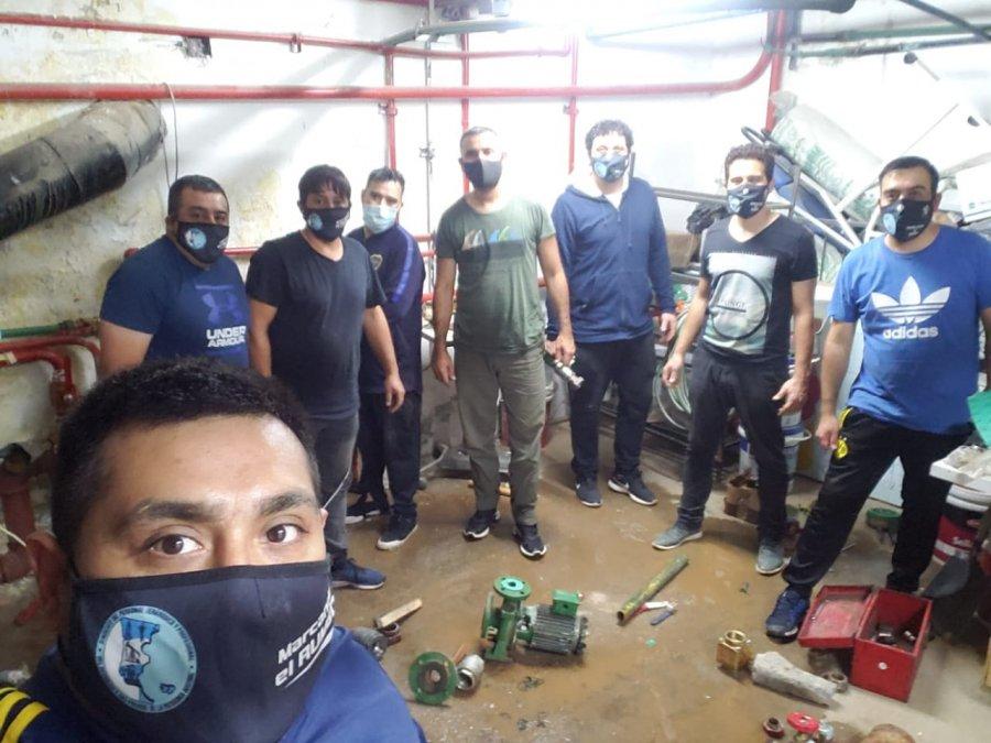 Petroleros Jerárquicos realizaron trabajos de mantenimiento en el Hospital de Pico Truncado