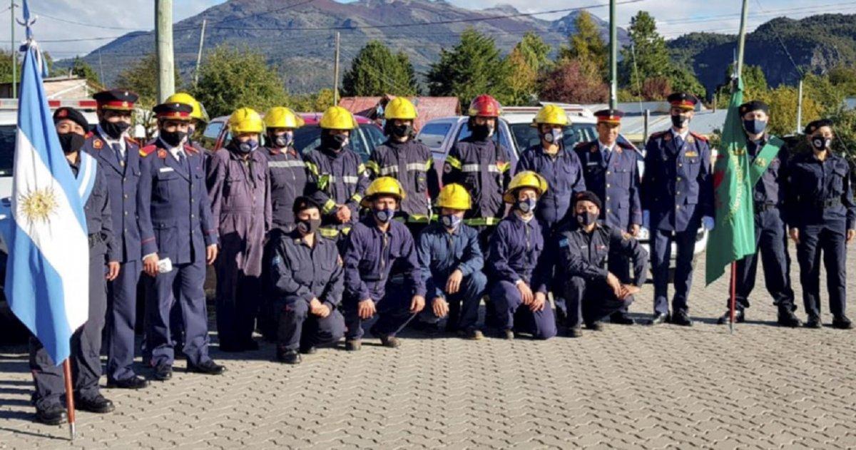Carrenleufú inauguró su primer cuartel de Bomberos Voluntarios. Foto: Diario Jornada.