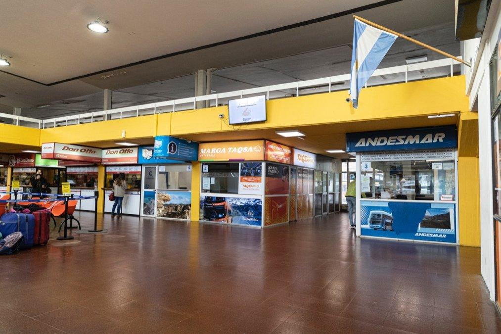 Continúan las obras para refaccionar la Terminal de Ómnibus de Comodoro Rivadavia.
