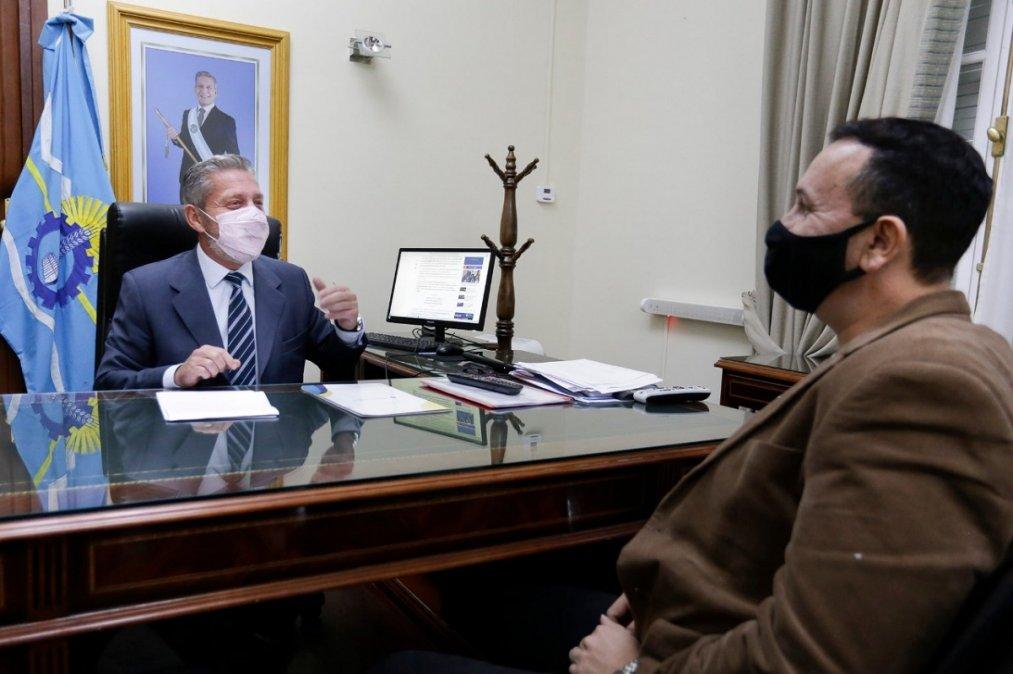Arcioni y Maderna se reunieron este martes para analizar un plan de obras en Trelew.