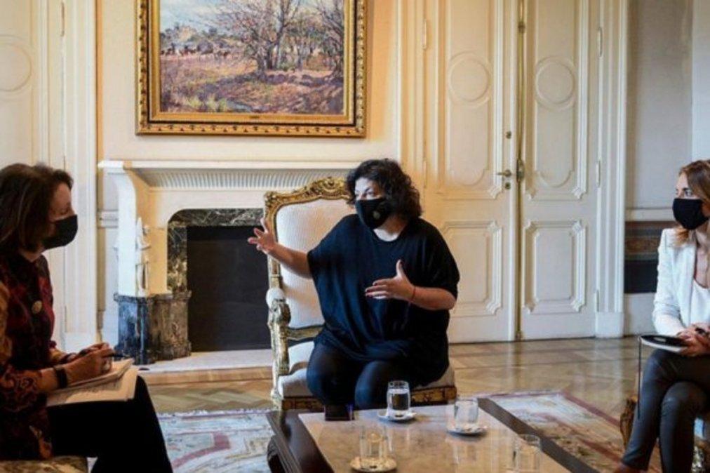La ministra Carla Vizzotti se reunió con Encargada de Negocios de la embajada norteamericana por las vacunas AstraZeneca.