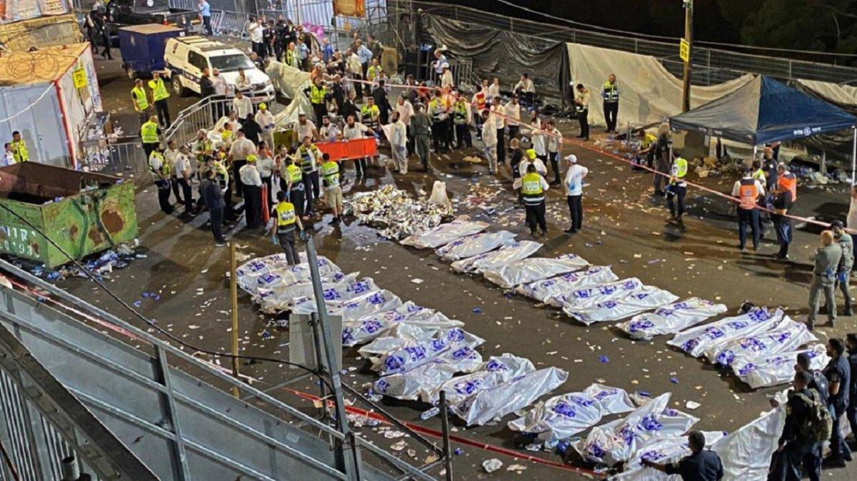 Unaestampida en una festividad religiosa en Israel dejó 44 muertos.
