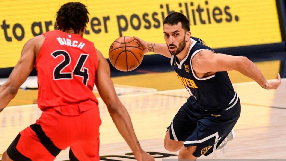 Campazzo anotó 12 puntos en la victoria de Denver Nuggets sobre Toronto Raptors.