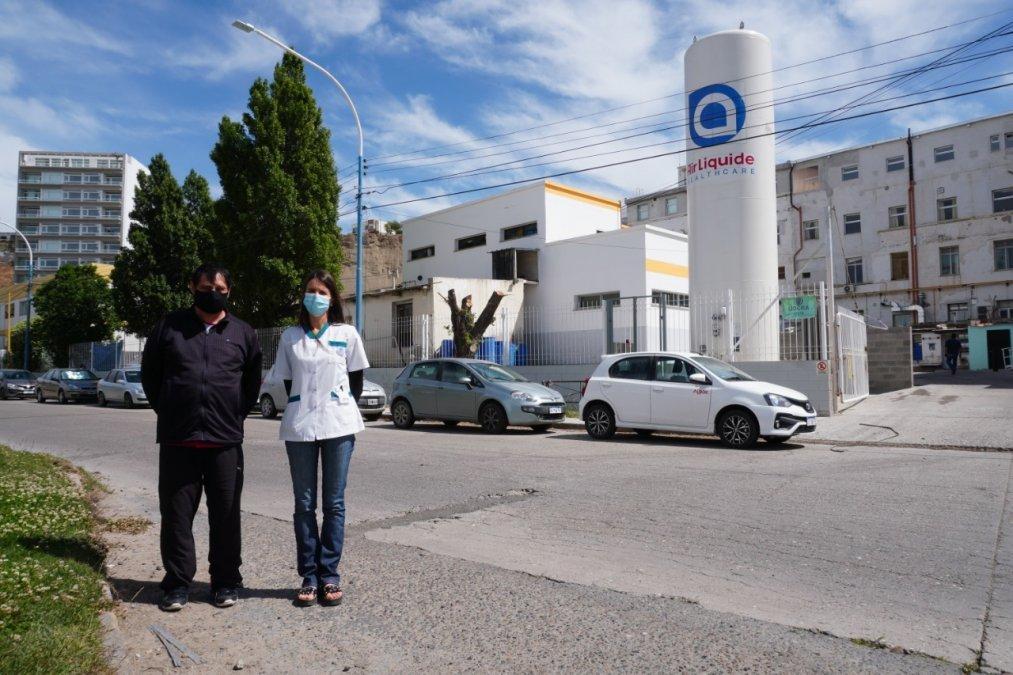 Provincia aseguró el abastecimiento de oxígeno para los hospitales de Comodoro Rivadavia y toda la zona sur de Chubut. En el Regional se instaló un nuevo tanque el año pasado.