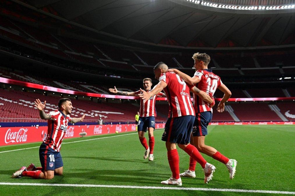 Correa marcó el gol que le terminó dando los tres puntos al Atlético Madrid ante Real Sociedad.