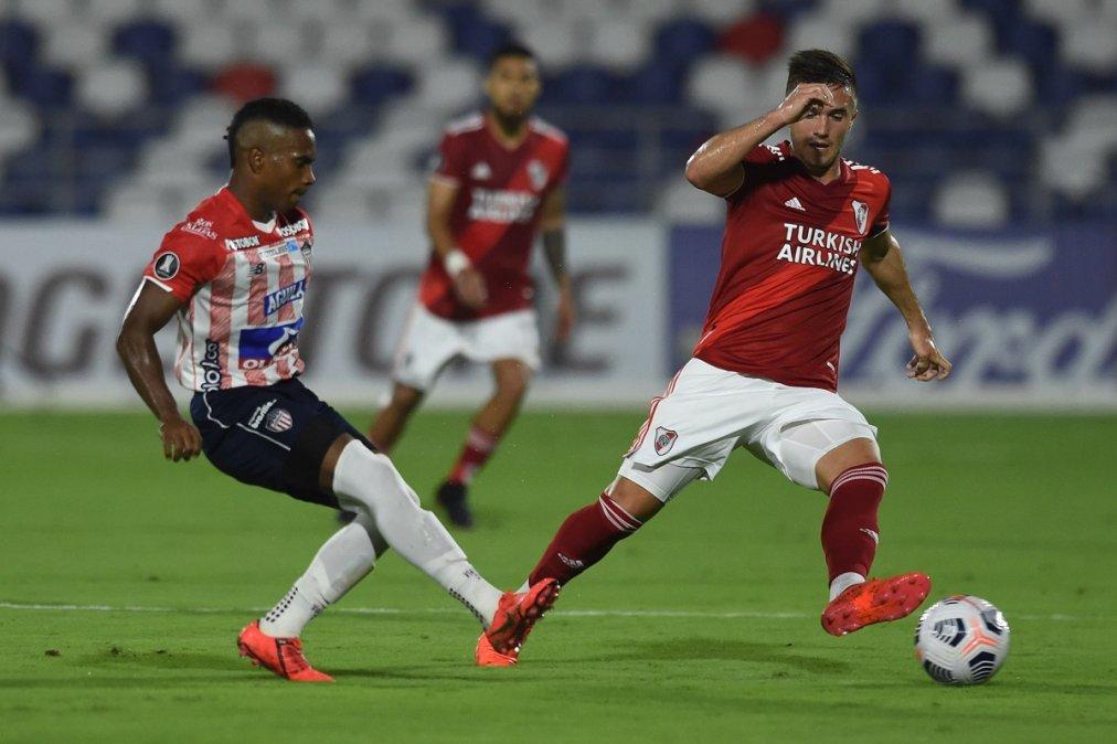 River empató con Junior en Colombia.