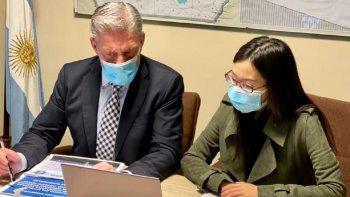 Acuerdo entre provincia y empresa china para renovar el Parque Eólico Antonio Morán.