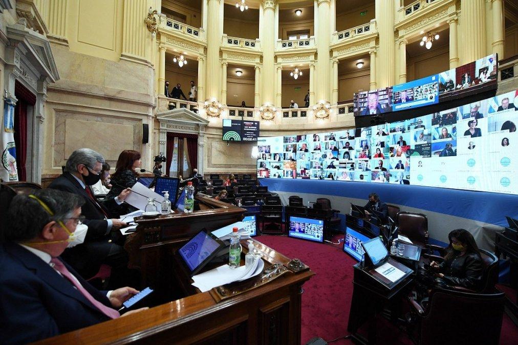 El bloque oficialista del Senado aprobó un proyecto de declaración solicitándole al gobierno que los créditos que ingresen sean destinados a la gente