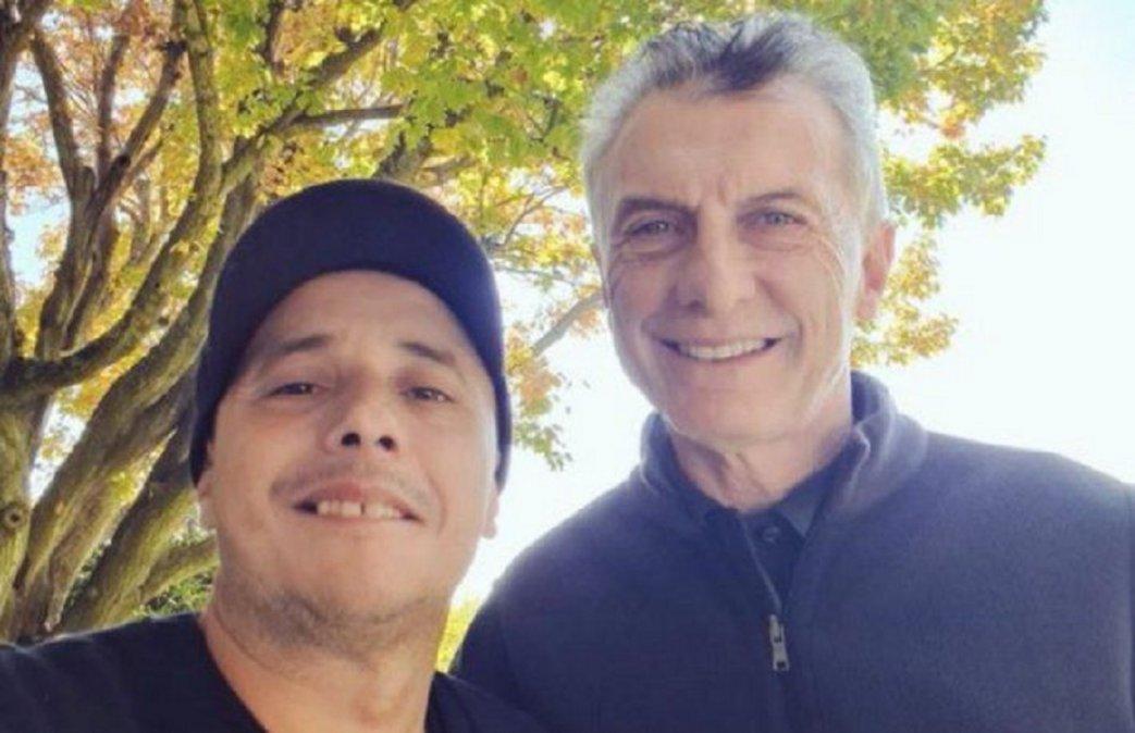 Macri y El Dipy almorzaron y subieron una selfie