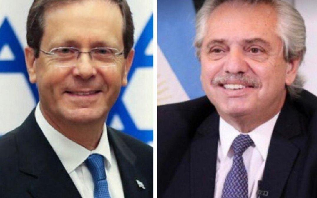 Alberto Fernández felicitó al presidente electo en Israel