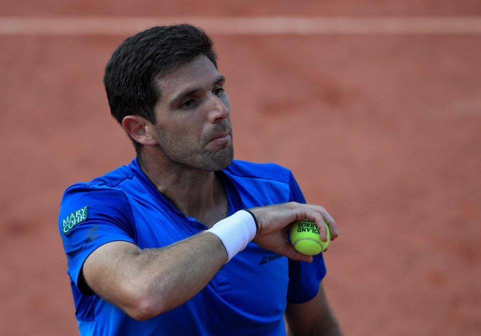 Federico Delbonis eliminado de Roland Garros.