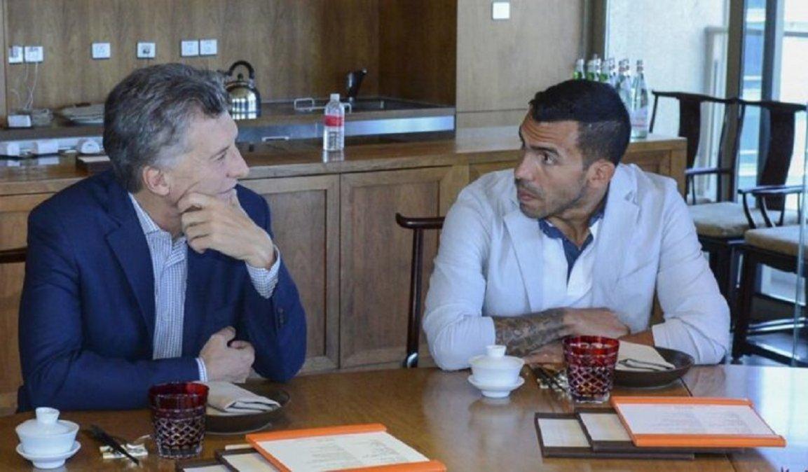 Macri saludó a Tevez en sus redes sociales.