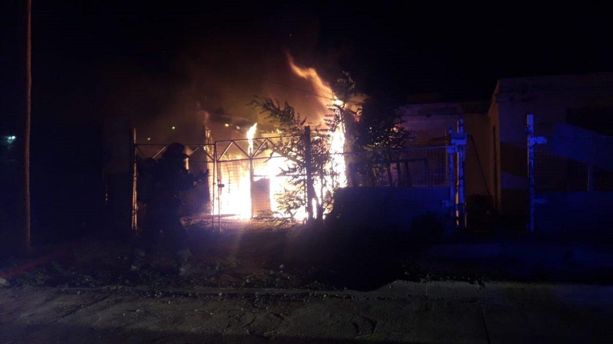 Gran incendio en una casa del barrio Newbery