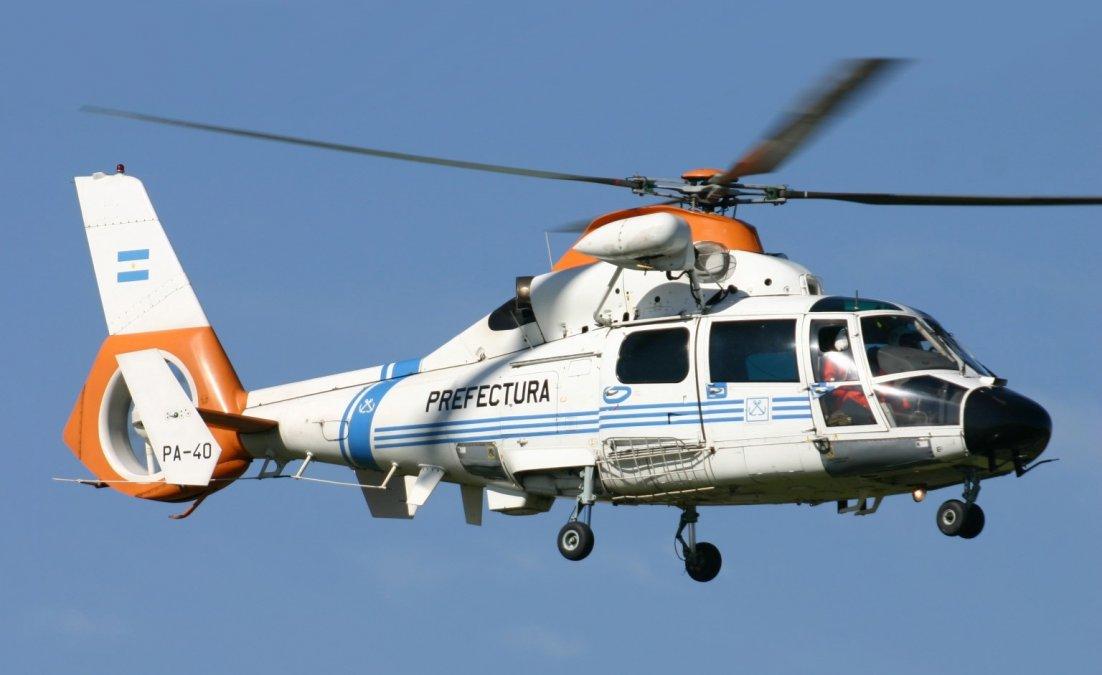 Comodoro Rivadavia: Prefectura aeroevacuó a un tripulante en altamar