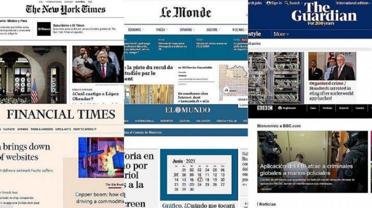Sitios de los medios más importantes del mundo dejan de funcionar