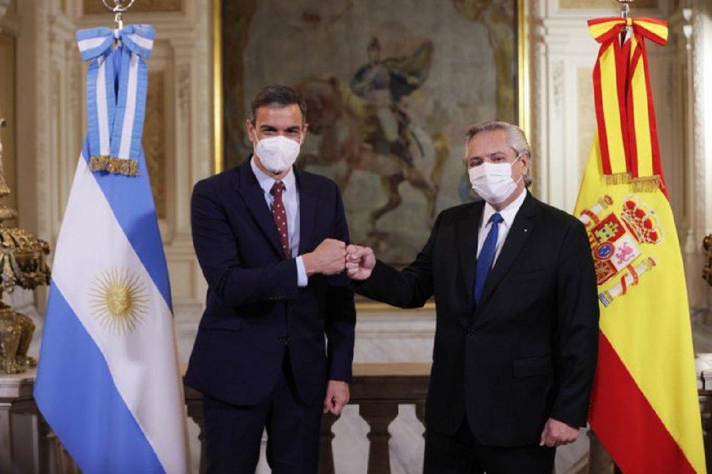 El Presidente Alberto Fernández se disculpó por la frase pronunciada durante la conferencia de prensa con su par español