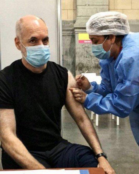 Rodríguez Larreta se vacunó contra el Covid-19