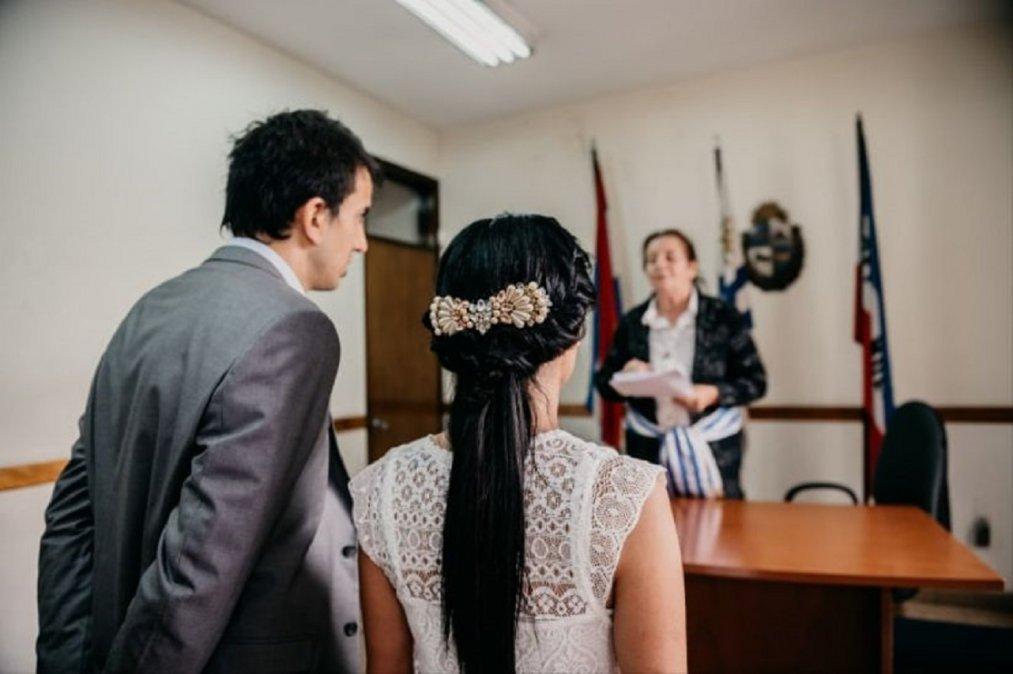 En Chubut aumentaron los casamientos en el 2021.