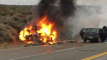 Cuatro personas murieron en un choque frontal en Ruta 22 en Chichinales