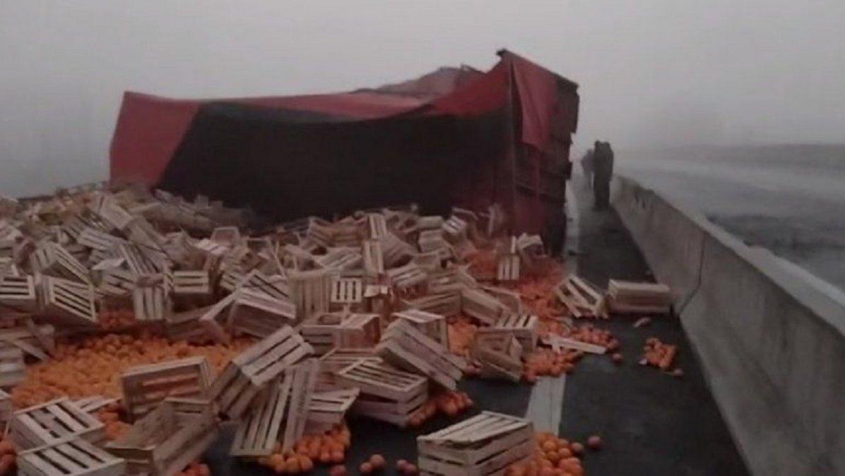 Un camionero murió tras perder el control del acoplado. Foto: Último Momento Noticias