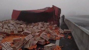 Un camionero murió tras perder el control del acoplado