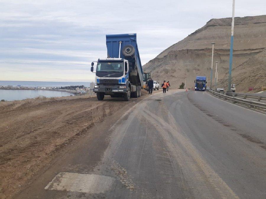 La Municipalidad avanza con los trabajos en la Ruta Nacional N°3