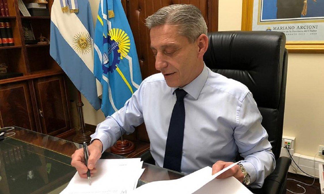 El gobernador Arcioni