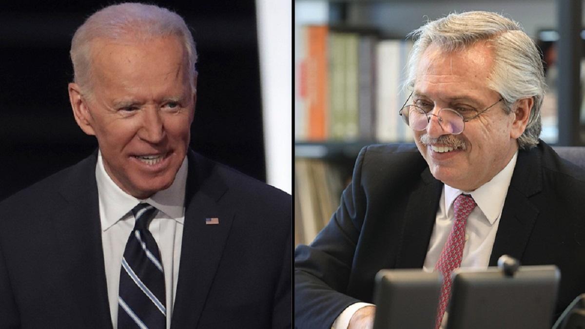 Biden le envió una carta de agradecimiento a Alberto Fernández.