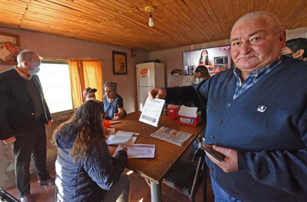 En Chubut ya se vacunaron el 60% de los mayores de 18 años.