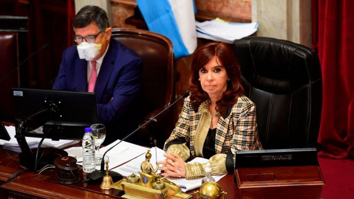 La vicepresidenta Cristina Fernández convocó a una sesión especial en el Senado de la Nación.