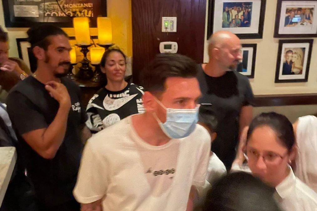Messi fue a cenar a un café de Miami y generó una revolución a la salida