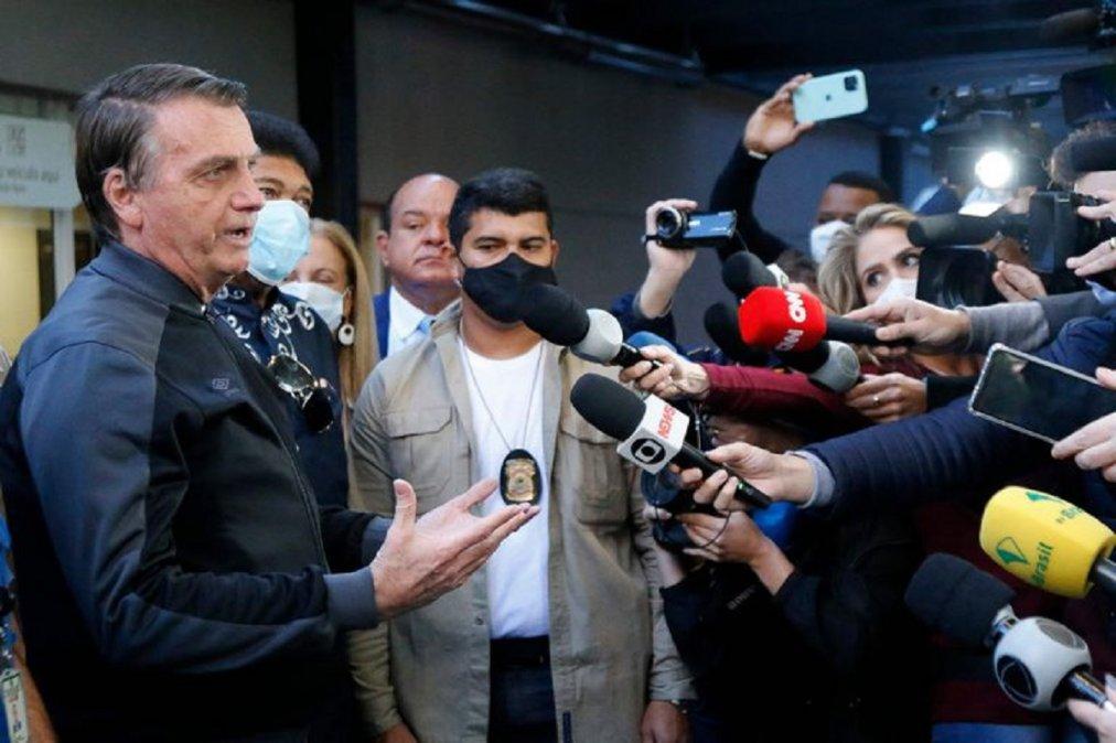 Jair Bolsonaro fue dado de alta del hospital. Foto: MIGUEL SCHINCARIOL - AFP
