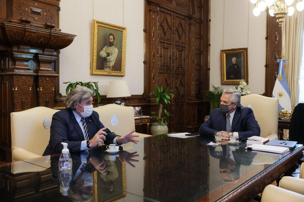 Alberto Fernández se reunió con José Luis Ramón en la Casa Rosada