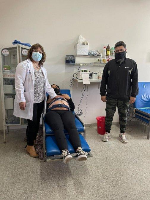 Trabajadores de Halliburton donaron un monitor fetal al Hospital.