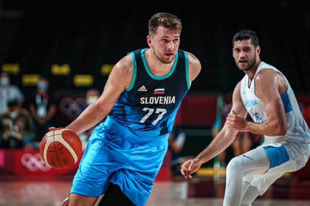 Argentina perdió con Eslovenia ante un intratable Doncic que terminó con 48 puntos.