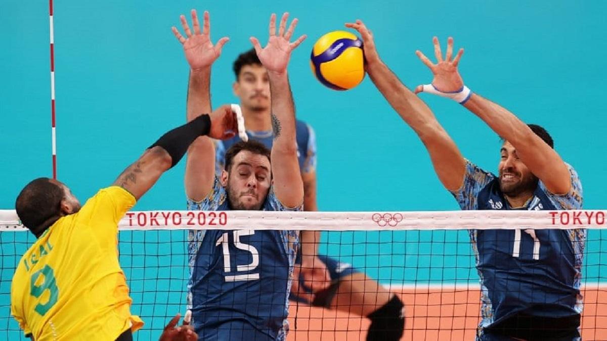 Vóley: Argentina perdió con Brasil en el Tie Break.