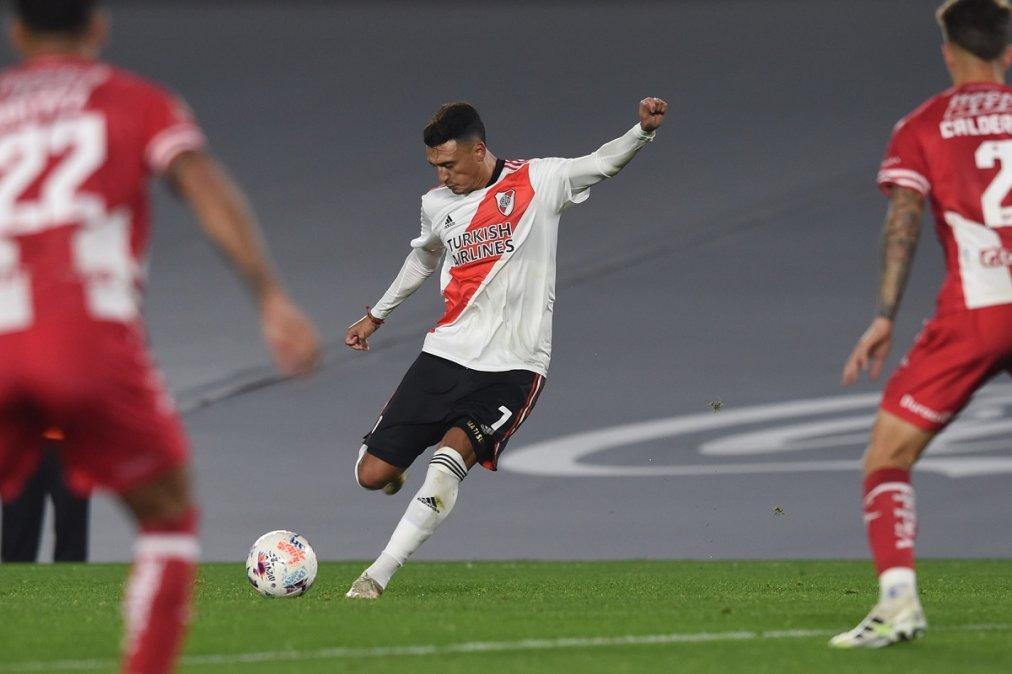 Matías Suárez tiene una distensión y se perdería el partido ante Boca por Copa Argentina.