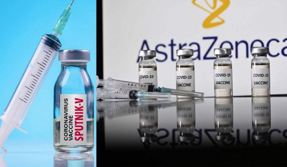 Los resultados preliminares de una investigación mostraron que es seguro combinar las vacunas de Sputnik V y AstraZeneca.