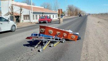 Quién era la joven víctima que era trasladada en el ataúd que se cayó en Picún Leufú. Foto: LM Neuquén