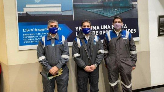 Juan Pablo Luque junto aSergio Afronti y Pablo González.
