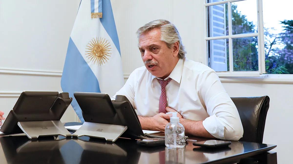 El presidente Alberto Fernández se hará un PCR para deterninar si puede regresar a las actividades presenciales en Casa Rosada.