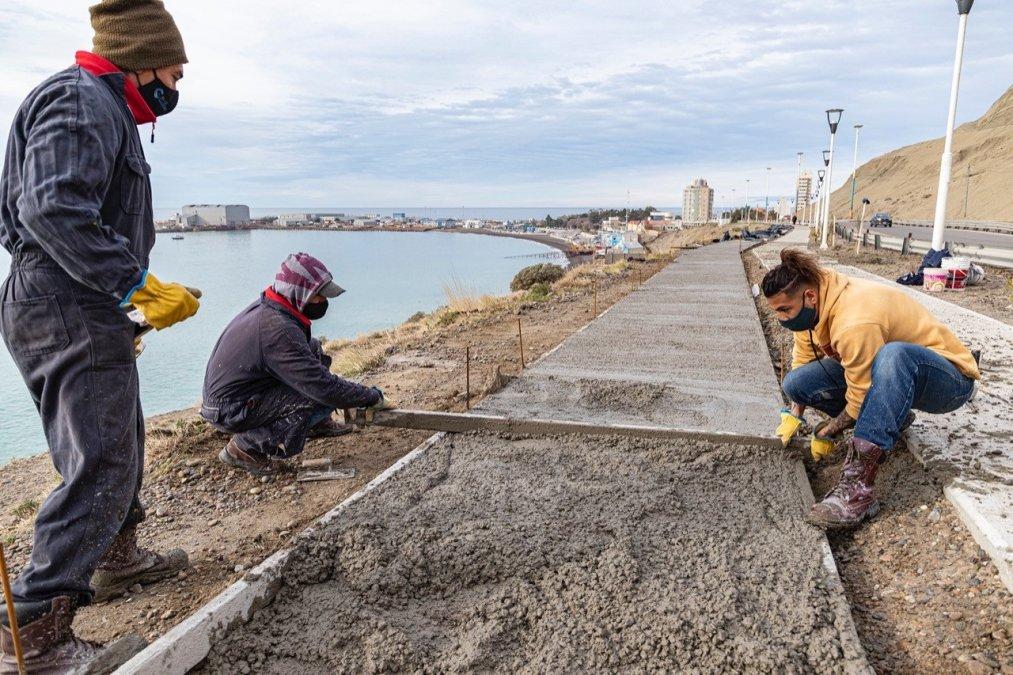 Se están desarrollando trabajos en inmediaciones del Monumento Primeros Colonos y en la vieja traza de la Ruta Nacional N° 3